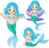 Mermaid Baby Set Royalty Free Stock Photos