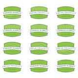 Set of illustration farm labels Stock Photography