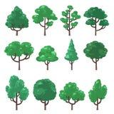 Set illustration of trees vector illustration
