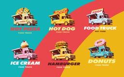 Set illustrations food truck Stock Photos