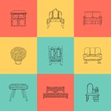 Set of illustrations for home furniture Stock Photography