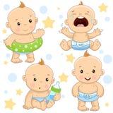 Baby boy 4 part. royalty free illustration