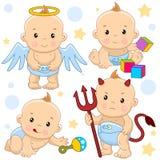 Baby boy 10 part. stock illustration