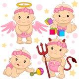 Baby girl 10 part. royalty free illustration