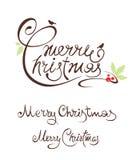 Set Illustrations Merry Christmas Stock Photos