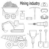The set of illustrations for the mining industry. On a white background Stock Image