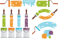 Set of illustrations. Painting Stock Images