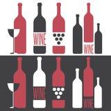 Set of  illustrations on wine. Theme Stock Photography