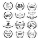 Set ilość emblematy najlepszy wybór Obrazy Stock