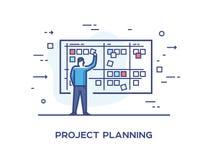 Set ilustraci pojęcie z biznesmenami rysuje w górę planu Obieg, przyrost, grafika Rozwój Biznesu Obraz Royalty Free
