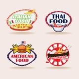 Set ilustracja międzynarodowy jedzenie również zwrócić corel ilustracji wektora Fotografia Stock
