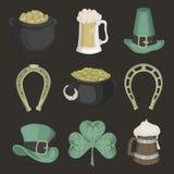 Set ilustracje dla St Patrick dnia Fotografia Royalty Free