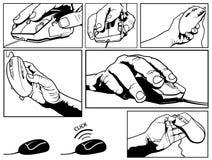 Set ilustracje Komputerowa mysz Zdjęcie Stock
