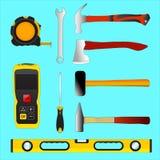 Set ilustracyjni budów narzędzia ilustracja wektor
