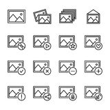 Set of image icons in modern thin line style. Royalty Free Stock Images
