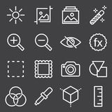 Set of Image Settings Related Vector Icons. Simple Set of Image Settings Related Vector Icons Stock Image