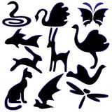 Set of images of animals stock illustration