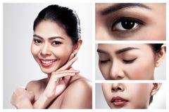 Set of images beautiful asian woman Stock Photos