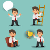 A set of images with a businessman. Vector illustration Royalty Free Stock Photo