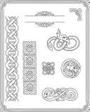 Set of images Celtic patterns Stock Image