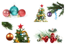 A set of images for Christmas and New Year. Royalty Free Stock Photo
