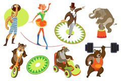 Set circus Royalty Free Stock Images