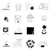 Set of  images of data analytic,business and social network icons Royalty Free Stock Images