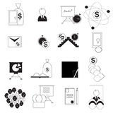 Set of  images of data analytic,business and social network icons Stock Photo