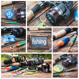 Set of images of fishing Stock Image
