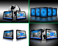 Set of 4 images Stock Photography