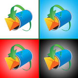 Set of 4 images Royalty Free Stock Images