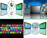 Set of 4 images Royalty Free Stock Photo