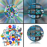 Set of 4 images. Set of four abstract images for designers for various necessities stock illustration
