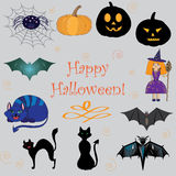 Set of images on Halloween Stock Image