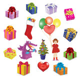 Set of images for holidays Royalty Free Stock Photo