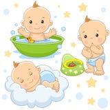 Baby boy 4 part. vector illustration