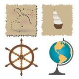 Set of images on the marine theme Royalty Free Stock Photography
