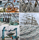 Set of images of sailing Royalty Free Stock Photo