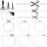 Set of images with scissors Stock Image