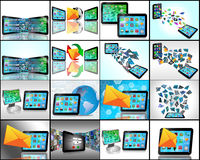 Set of 16 images Royalty Free Stock Image