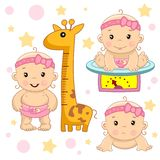 Baby girl 5 part. royalty free illustration