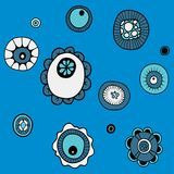A set of images of small molecules vector illustration