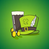set of images of St. Patrick Royalty Free Stock Image