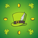 Set of images of St. Patrick Stock Images