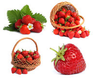 Set images with strawberries Royalty Free Stock Photos