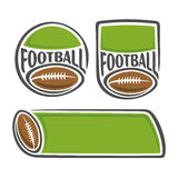 A set of images on the subject of american football Stock Image
