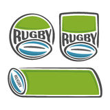 A set of images on the subject of rugby Stock Images