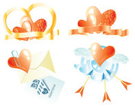 A set of images on the theme of Valentine's Day Stock Image