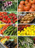 Set images vegetables Stock Photography