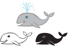 Set of images whale Royalty Free Stock Photo